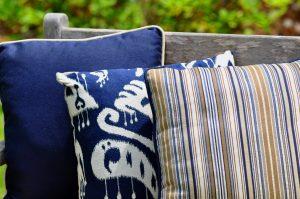 Tissus tapisserie d'extérieur GeoBella<sup>®</sup> bleus