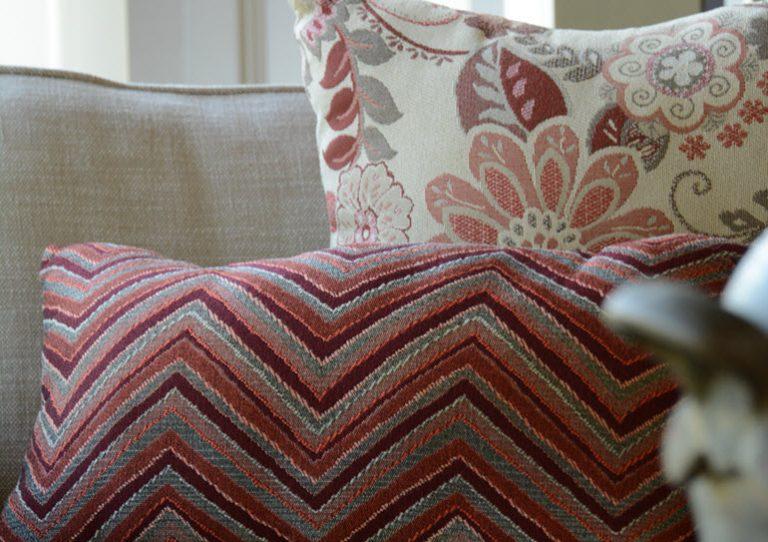 Phifer GeoBella Oranges/Reds Outdoor Cushion and Pillow Fabric